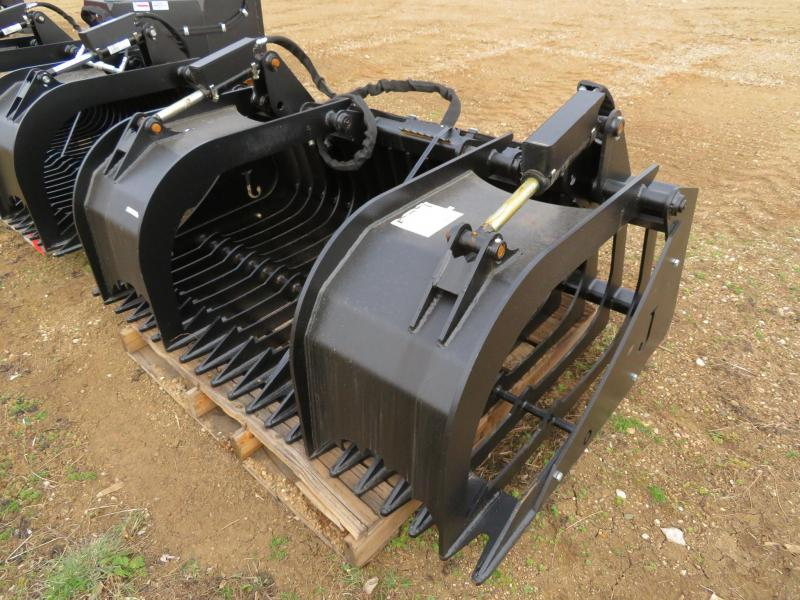 "New Jenkins - 68"" Skid Steer Rock Bucket with Grapple"