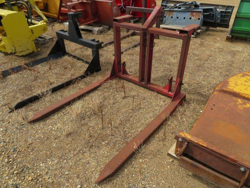 Used Red 3 Point Bale Fork