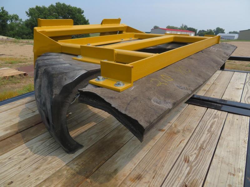 "Yellow 80"" Skid Steer Manure Pusher"