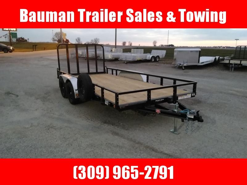 2021 PJ Trailers 83X16 Tandem Axle Channel Utility (UL) Utility Trailer