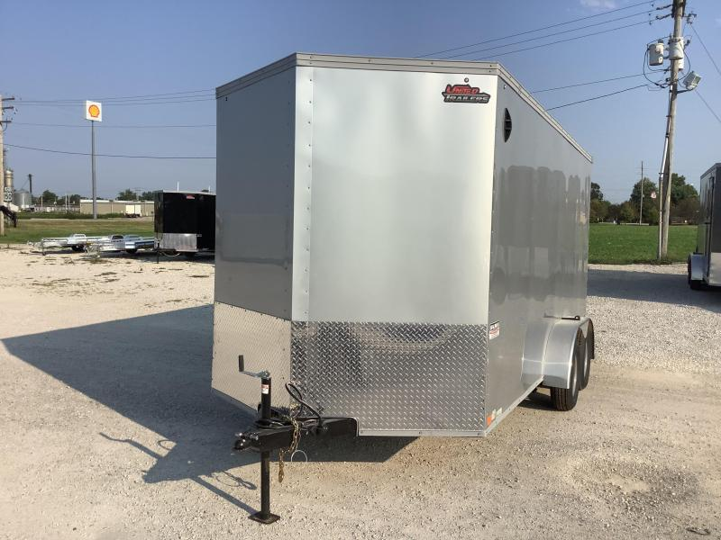"""2022 United Trailers XLV 7 x 16 ft.12"""" EXTRA HEIGHT Enclosed Cargo Trailer"""