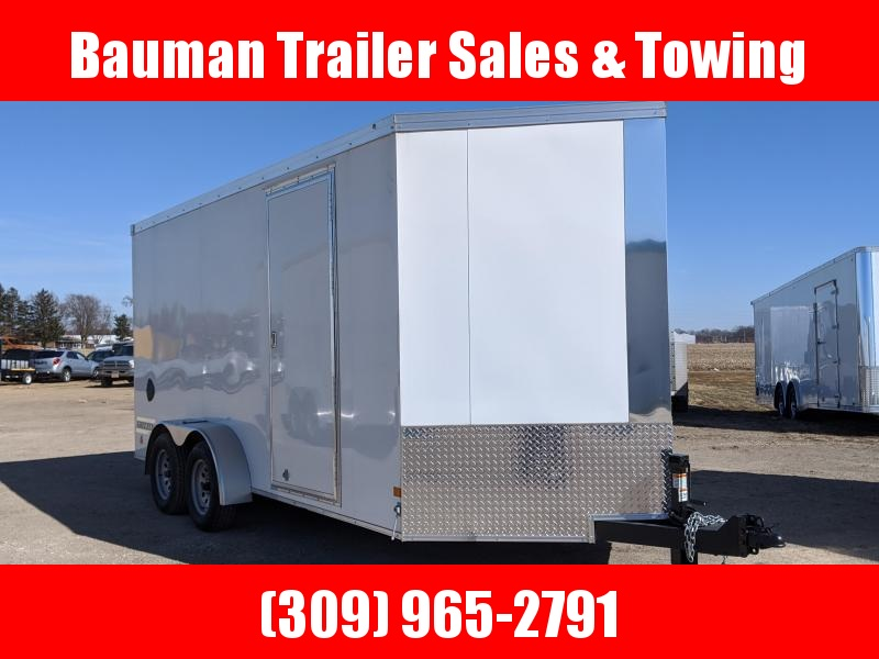 2021 Haulmark Grizzly V-nose Extra tall  7X16 Enclosed Cargo Trailer