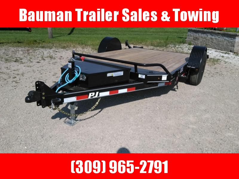 2021 PJ Trailers Single Axle HD Tilt (T1) Flatbed Trailer