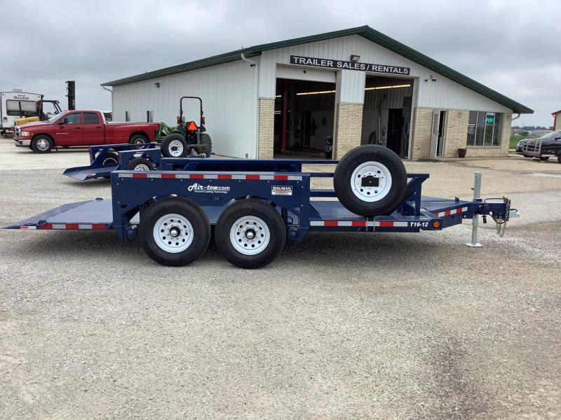 2021 Air Tow T16-12 Tandem Axle Flatbed Flatbed Trailer