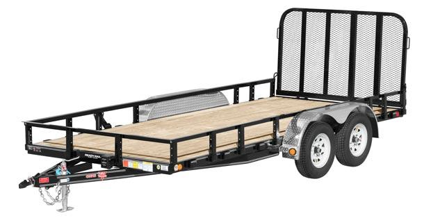 "2021 PJ Trailers 83"" x 16' Tandem Axle Channel Utility (UL)"