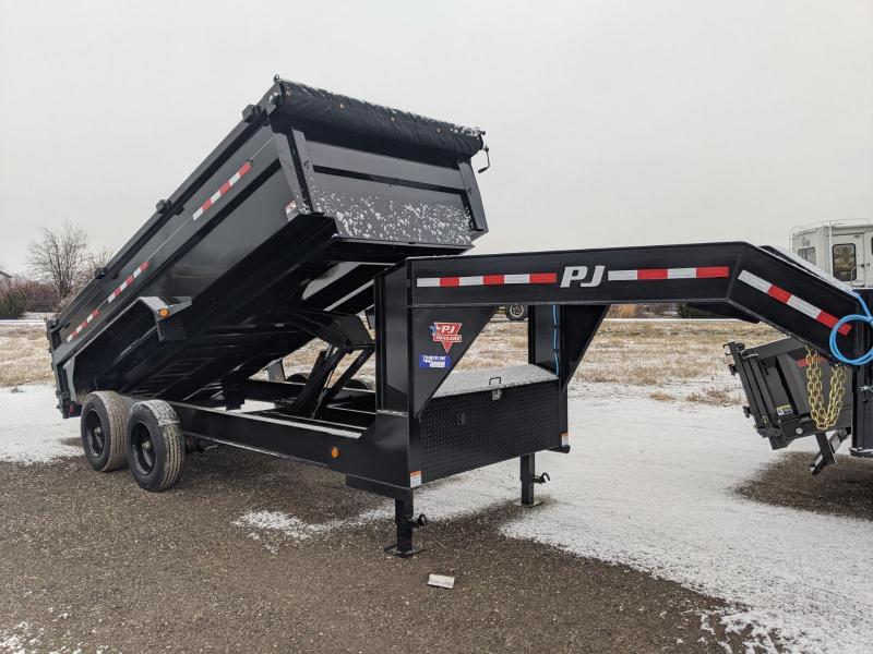 2021 PJ Trailers HD Low-Pro Dump (DE) 16' GN