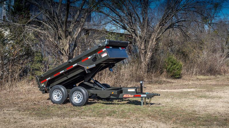 "2021 MAXXD D6X - 60"" x 10' Scissor Lift Dump Trailer"