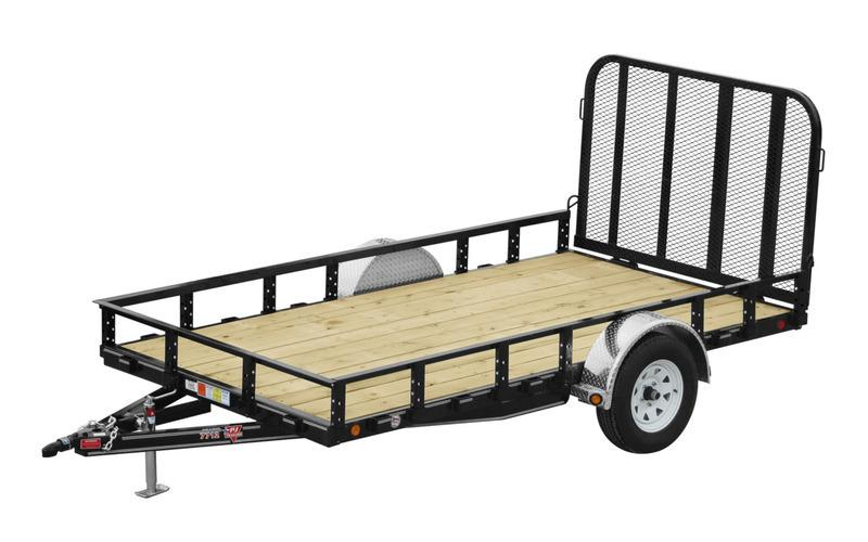 "2021 PJ Trailers 77"" x 12' Single Axle Channel Utility (U7)"