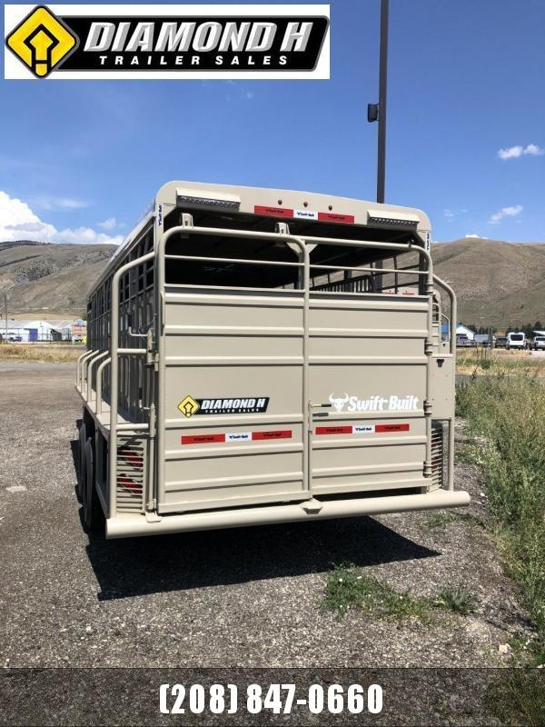 2022 Swift Built Trailers 24' Stock Livestock Trailer