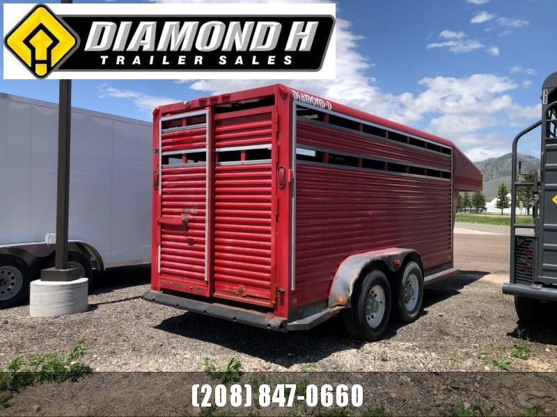 2001 Diamond D Stock 6x14 Livestock Trailer