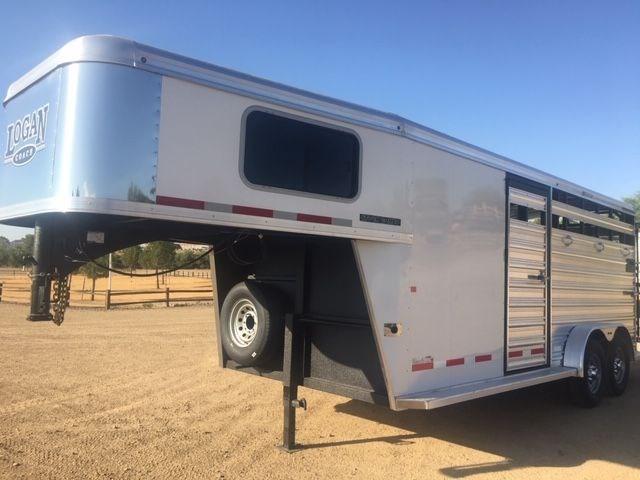2021 Logan Coach 18' Stock Combo Livestock Trailer