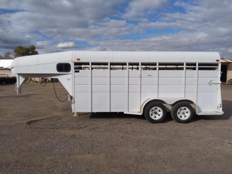 1998 Calico Trailers 16' GN STOCK Livestock Trailer