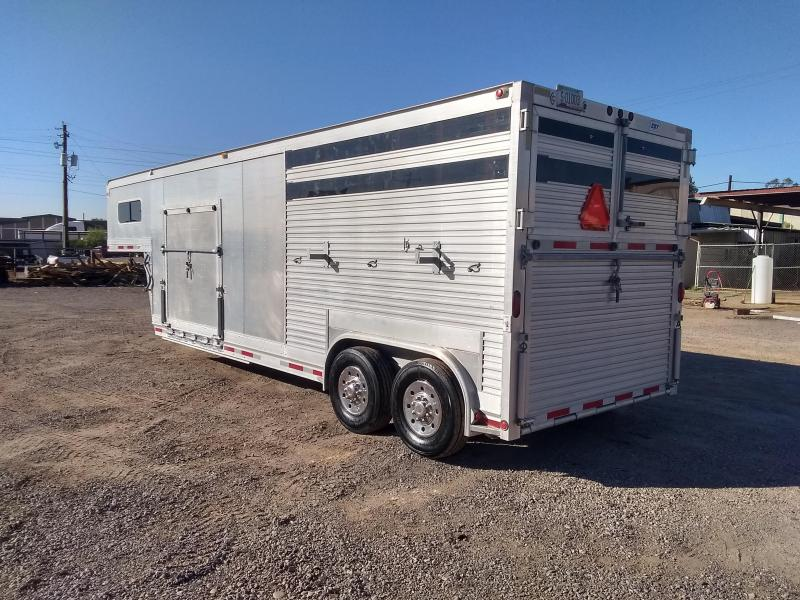 1998 EBY 2H WARMBLOOD W/ 11' SHELL AND BUGGY RAMP Horse Trailer