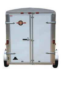 Black CARRY-ON 5X8 CGEC Enclosed Cargo Trailer