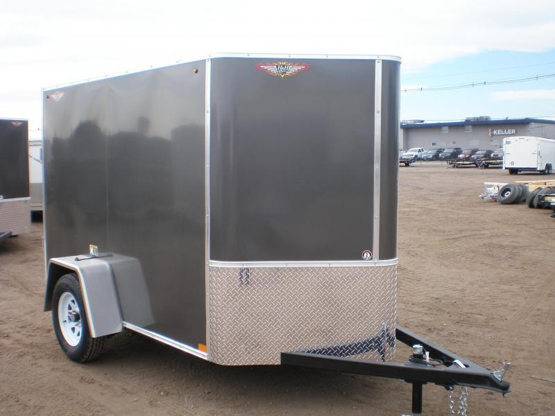 2021 H&H 5x8 Enclosed Cargo Trailer w/Ramp V-Nose
