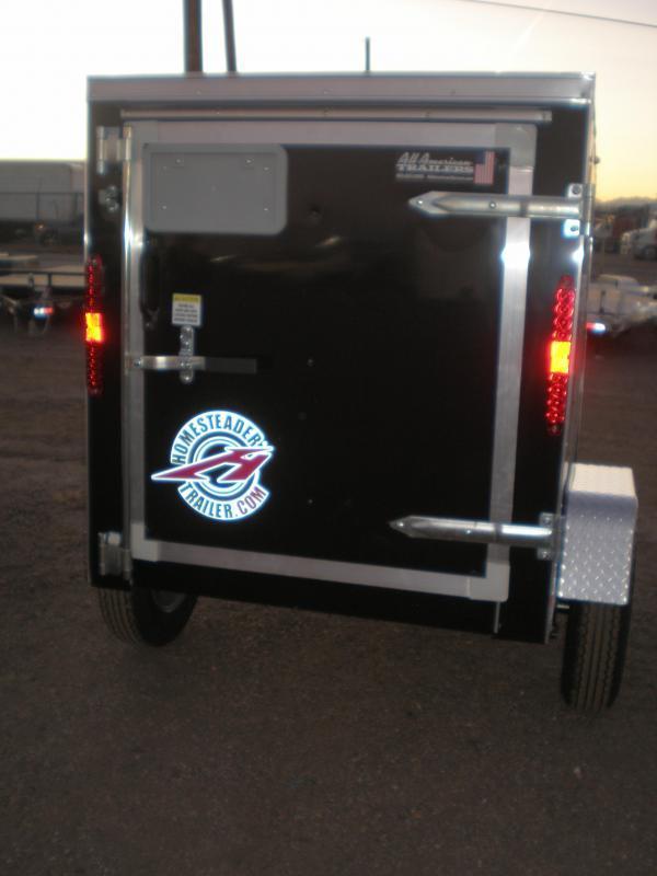 2021 Homesteader 4x6 Enclosed Cargo Trailer - Black