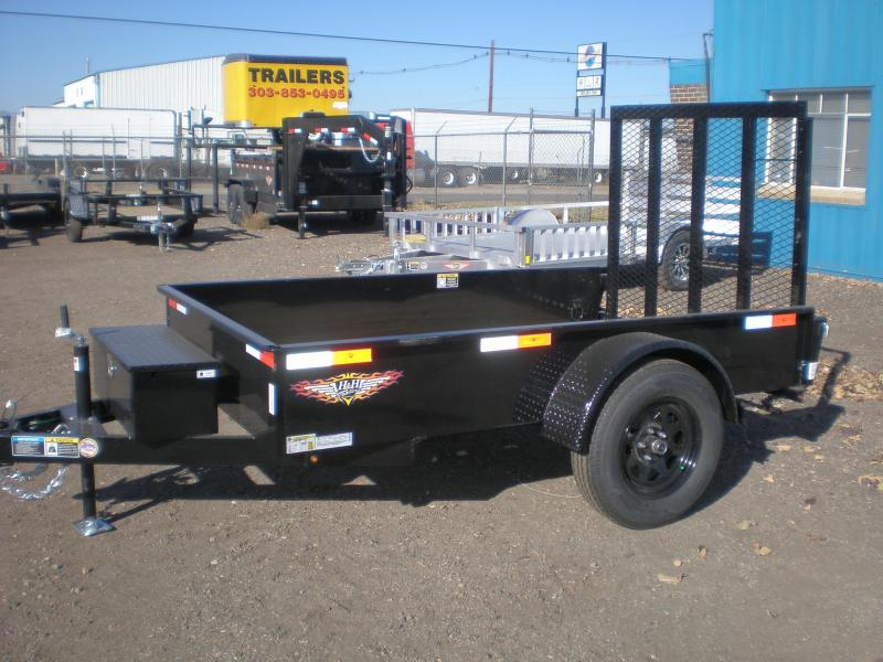 2021 H and H Trailer 5x8 Solid Side Utility Trailer