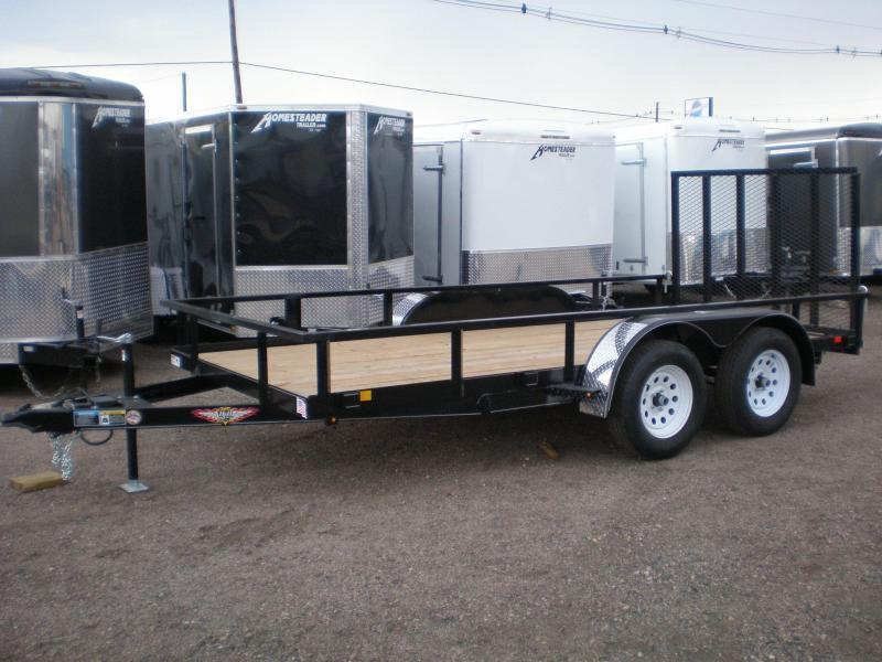 2021 H and H 82x14 Tandem Axle Utility Trailer w/Ramp Gate