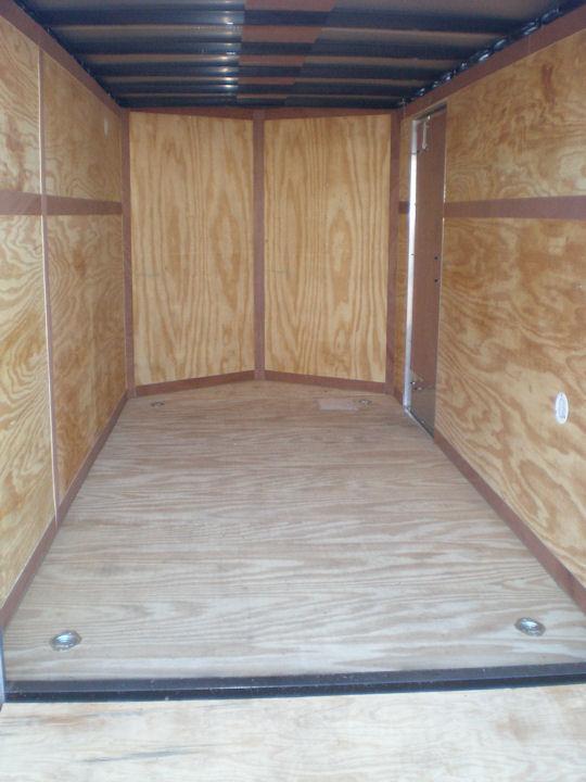 """2021 Homesteader 7x12 Enclosed Cargo Trailer - V Nose """"OHV"""" Pkg"""
