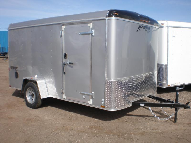 2019 Homesteader 7x12 Enclosed Cargo Trailer w/Brakes (White)