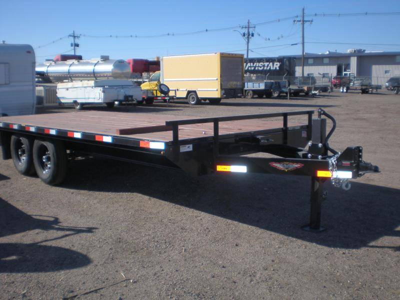 2019 HH 102X18 Deckover Flatbed Trailer w/Ramps  14K