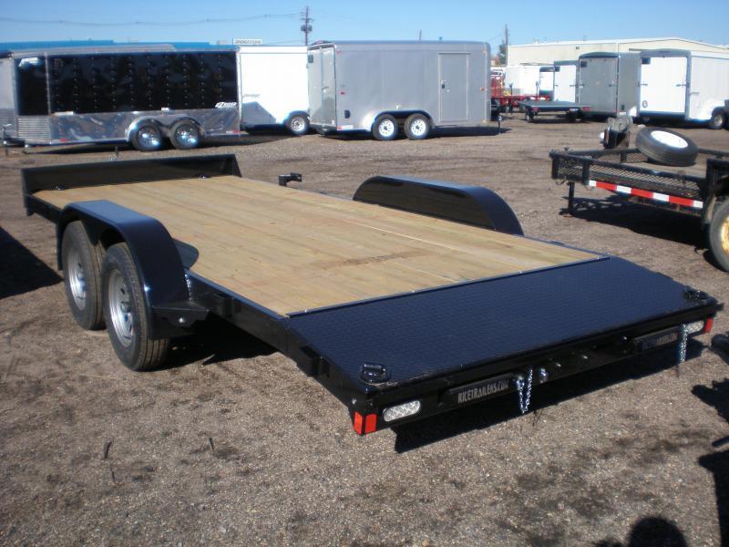2022 Rice 7X18 Flatbed Car Hauler Trailer w/Dovetail