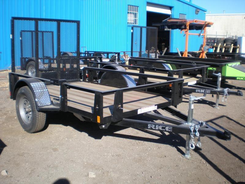 2021 Rice RS 5x8 Utility Trailer w/Gate