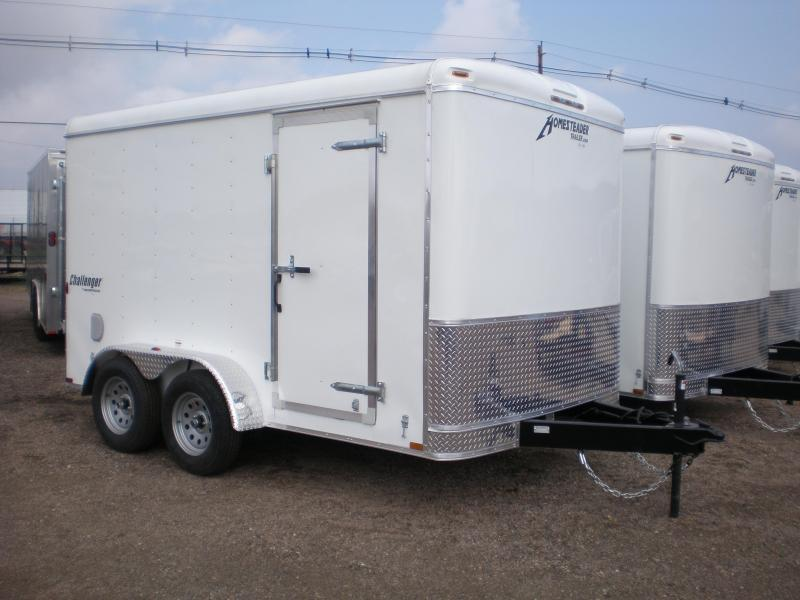 2020 Homesteader 7x12 Enclosed Cargo Trailer Double Doors