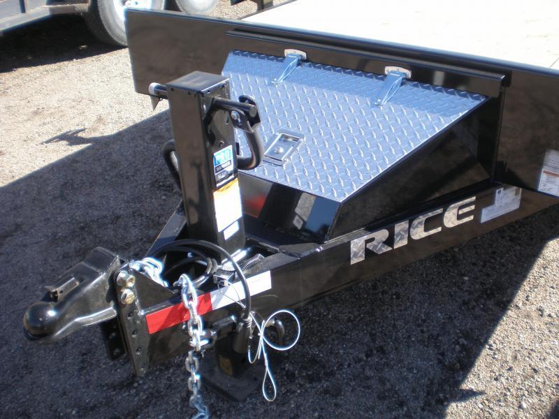 2018 Rice 7X20 10K Flatbed Equipment Trailer