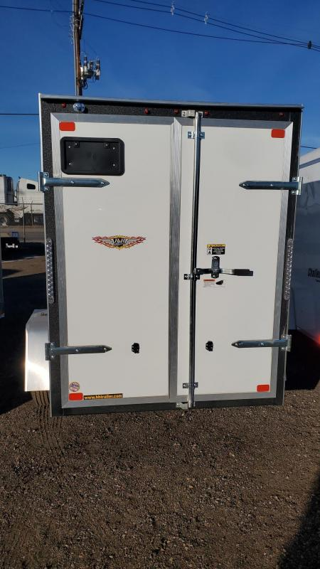 2021 H and H 5x8 Enclosed Cargo Trailer V-Nose Double Doors