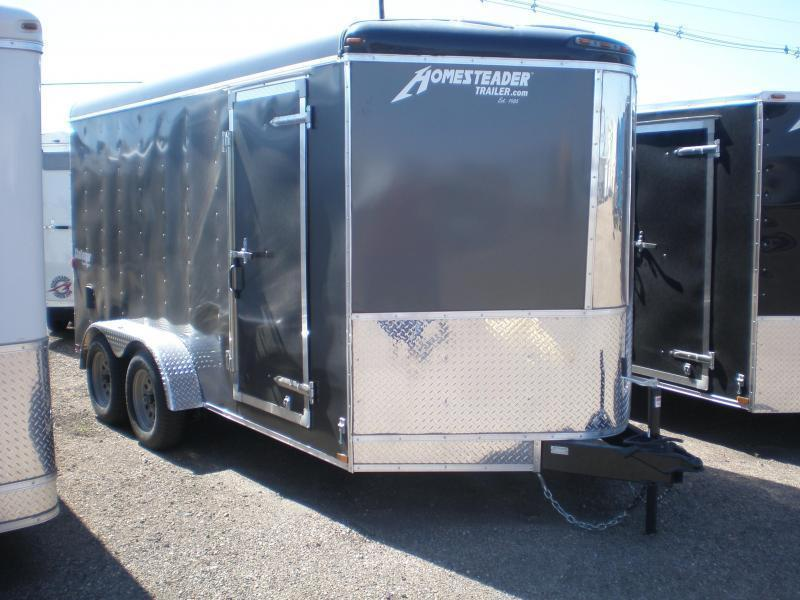 2021 Homesteader 7x14 Enclosed Cargo V Nose Trailer w/Ramp