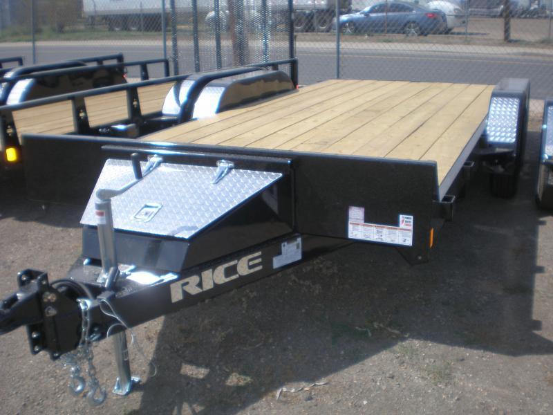 2021 Rice 82x16 Flatbed Car Hauler - No Dovetail