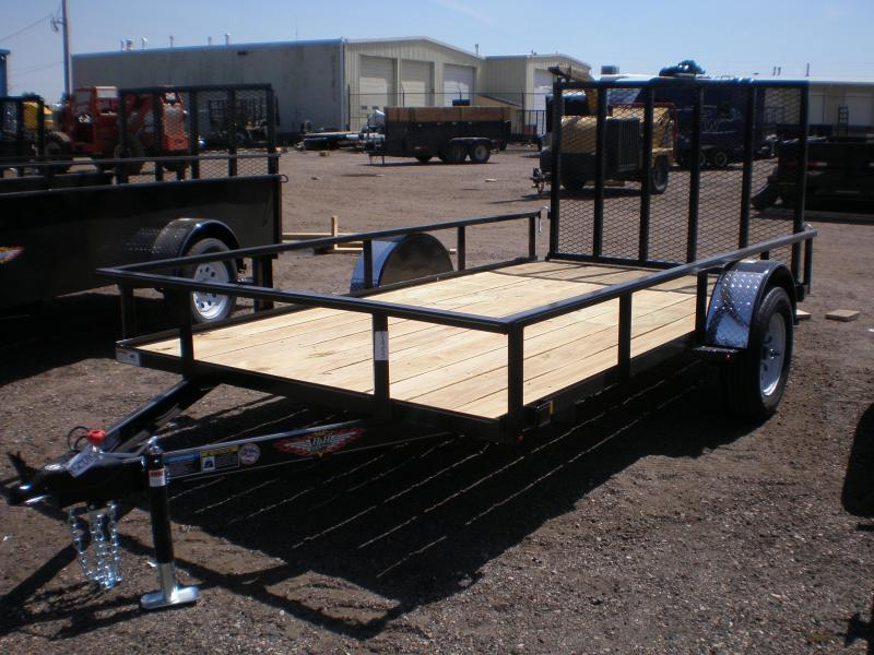 2021 H & H 82x14 Utility Trailer w/ 4' Ramp Gate