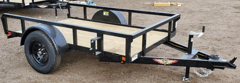 2021 H and H 5X8 Utility Trailer - No Ramp Gate