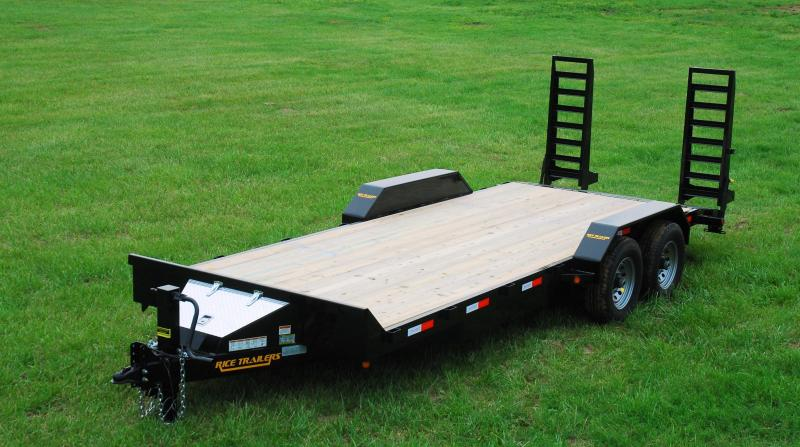 2019 Rice 82x18 Flatbed Equipment Trailer 14K