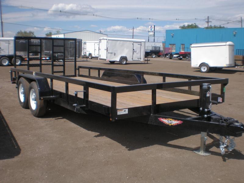 2021 H and H 82x18 Utility Trailer - 10K