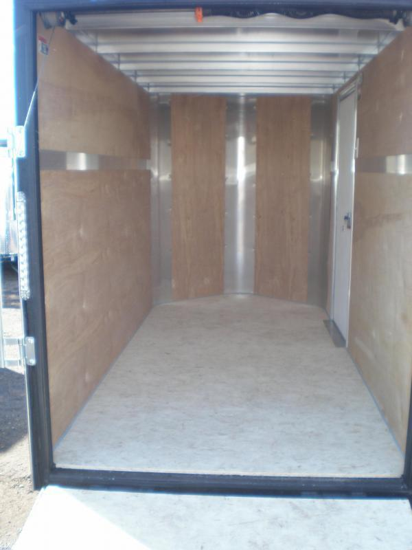 2021 H and H 6x12 Enclosed Cargo Trailer V-Nose Ramp