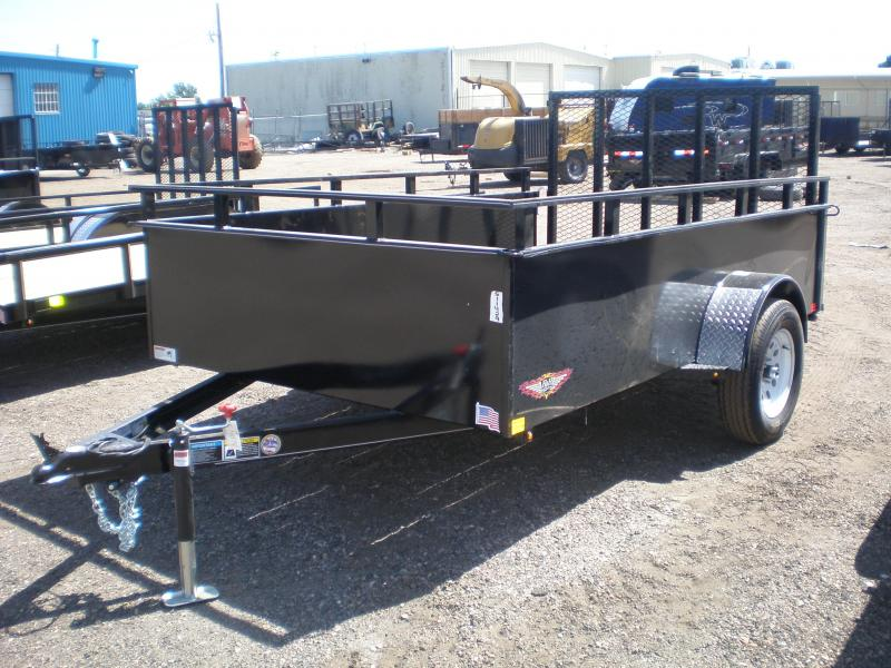 "2021 H and H 76X10 Utility Trailer - 24"" Sides"