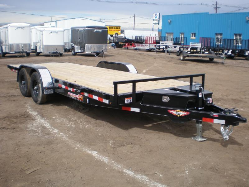 2021 H & H 82X20 10K ELECTRIC TILT Flatbed Trailer