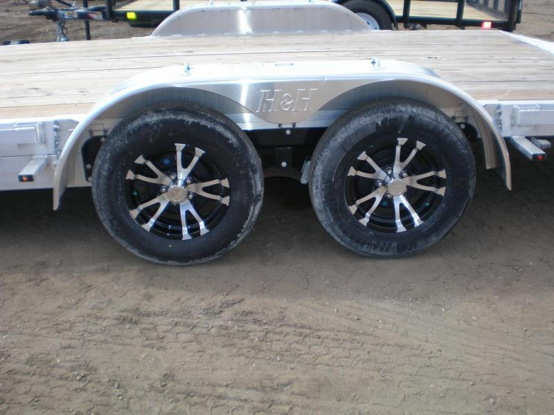2021 H and H 82X18 ALUMINUM Flatbed Trailer