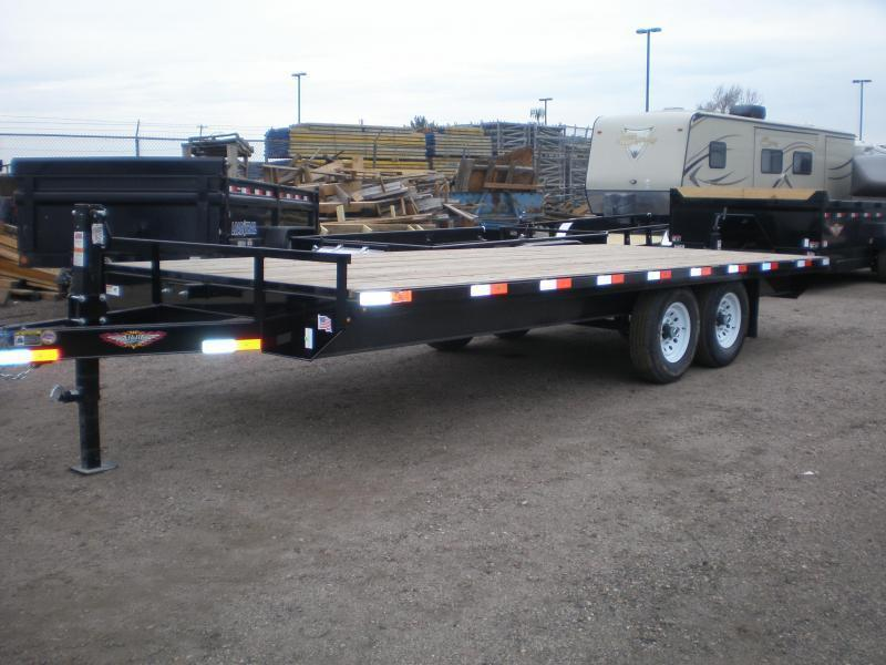 2021 H and H 102X20 Deckover Flatbed Trailer  14K