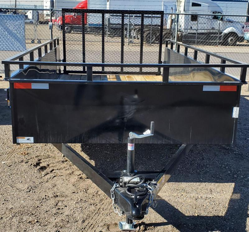 2021 H&H 82x14 Solid Sides Tandem Utility Trailer