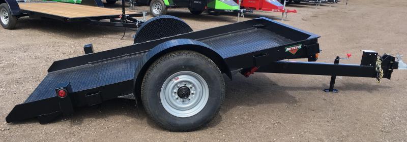 2019 Butler Tilt Flatbed Equipment Transport Trailer 7K Axle