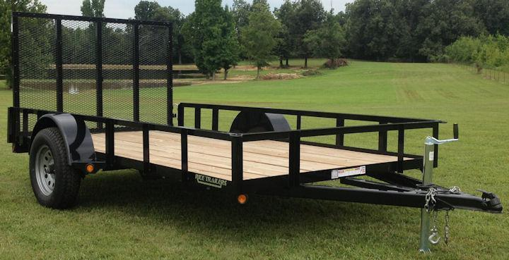 2021 Rice 76x14 Utility Trailer W/Ramp