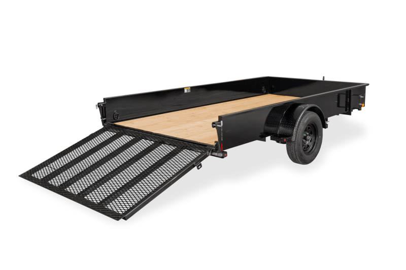 2021 H and H 76x12 Utility Trailer w/Solid Sides