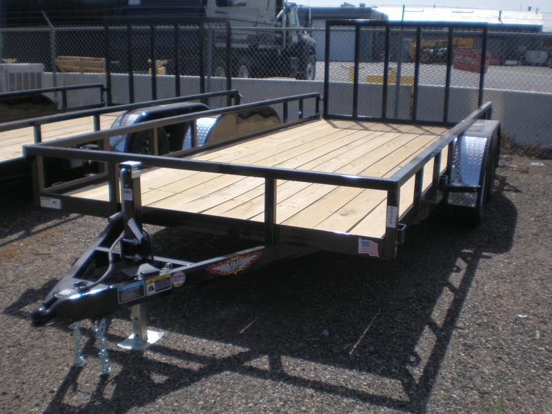 2021 H & H 82X16 Flatbed Utility Trailer