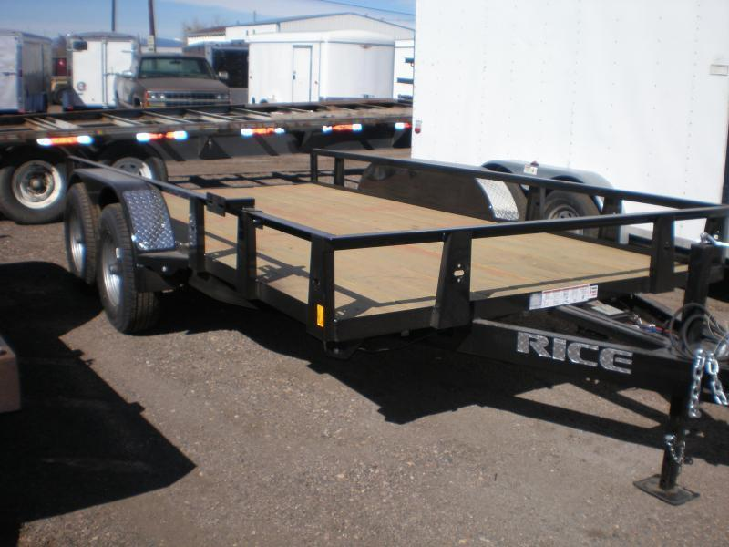 3021 Rice 82x14 Utility Trailer - W/Ramp 10K