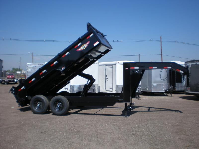 2021 H & H 83x16' Gooseneck Dump Trailer 16K w/ 7 ga. Floor