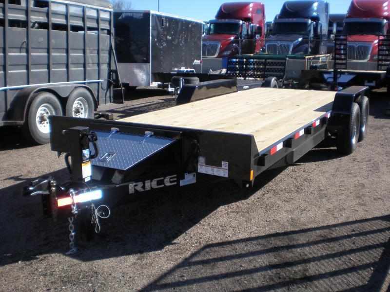 2021 Rice 10K 82x18 HD Flatbed Equipment Hauler
