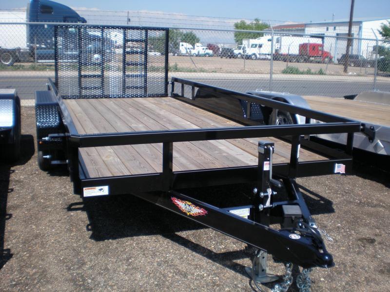 3021 H&H 82x14 Utility Trailer - W/ HD Ramp 10K